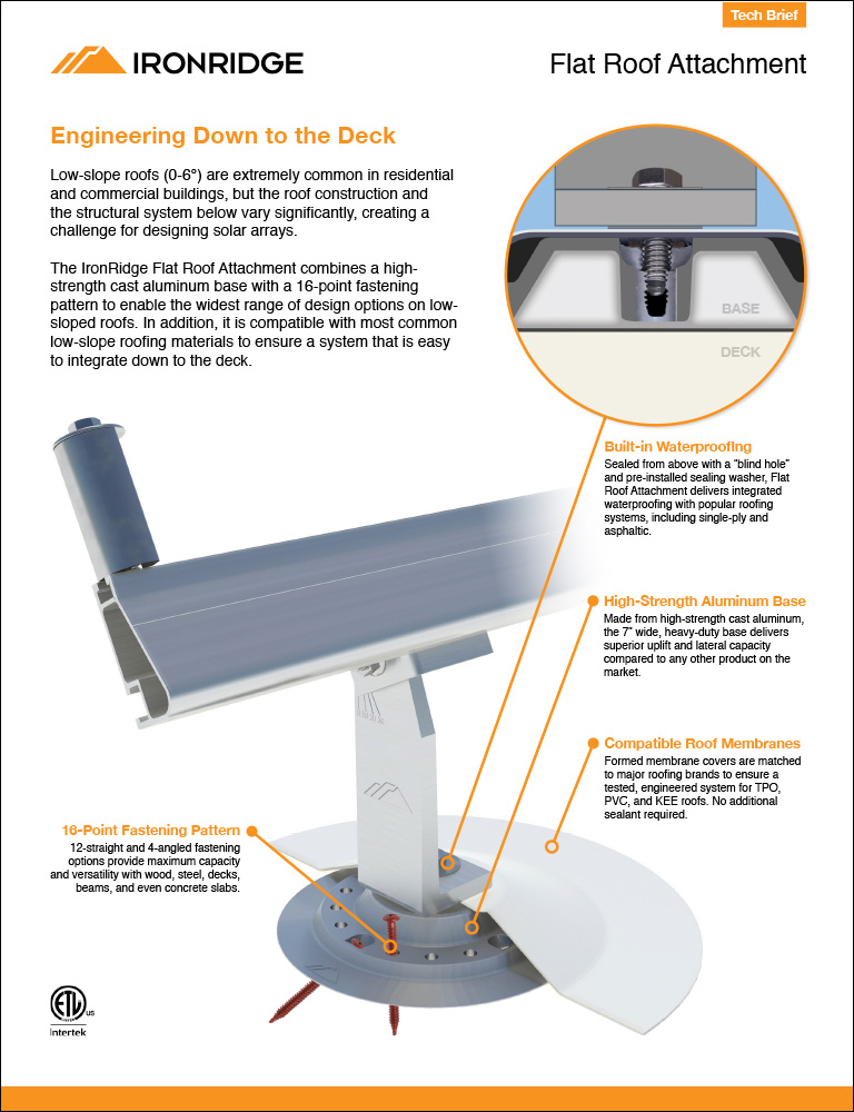 Flat Roof Attachment